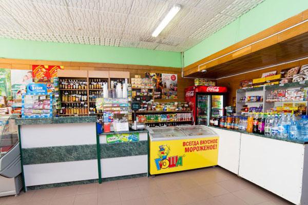 Магазин на территории