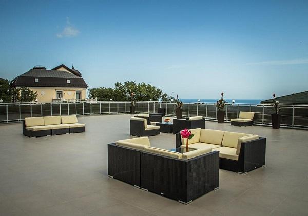 Отель Багатель,Вид на море с панорамной крыши