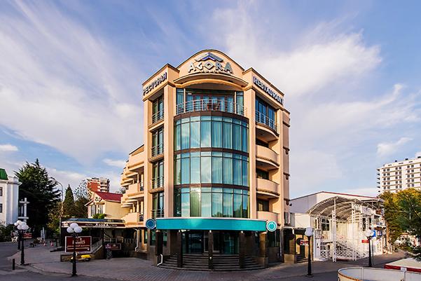 Отель Агора,Фасад
