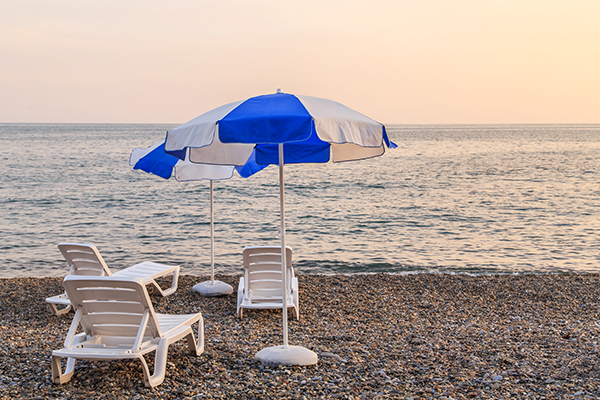 Вид на море, пляж