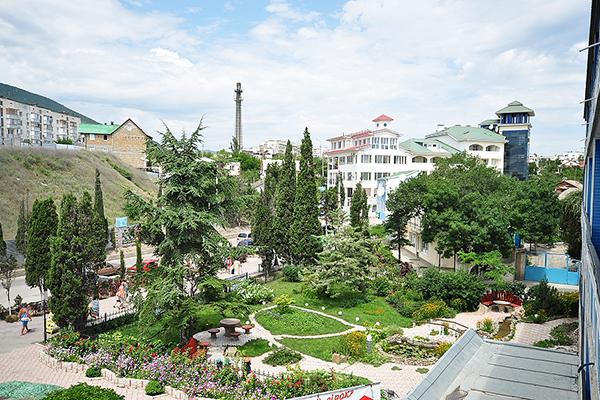 Отель Сурож,Вид из окна