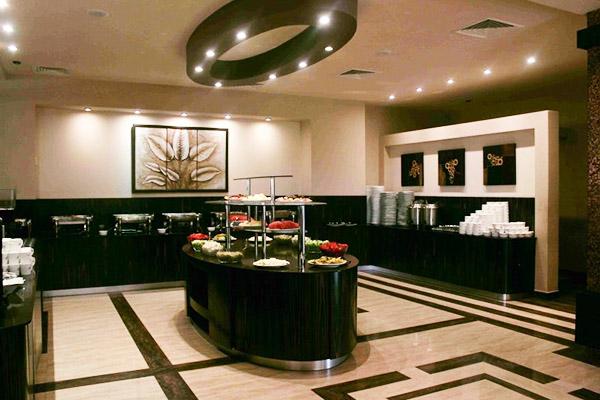Отель Oasis,Шведский стол