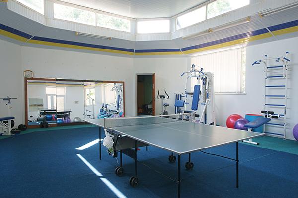 Настольный теннис в тренажерном зале
