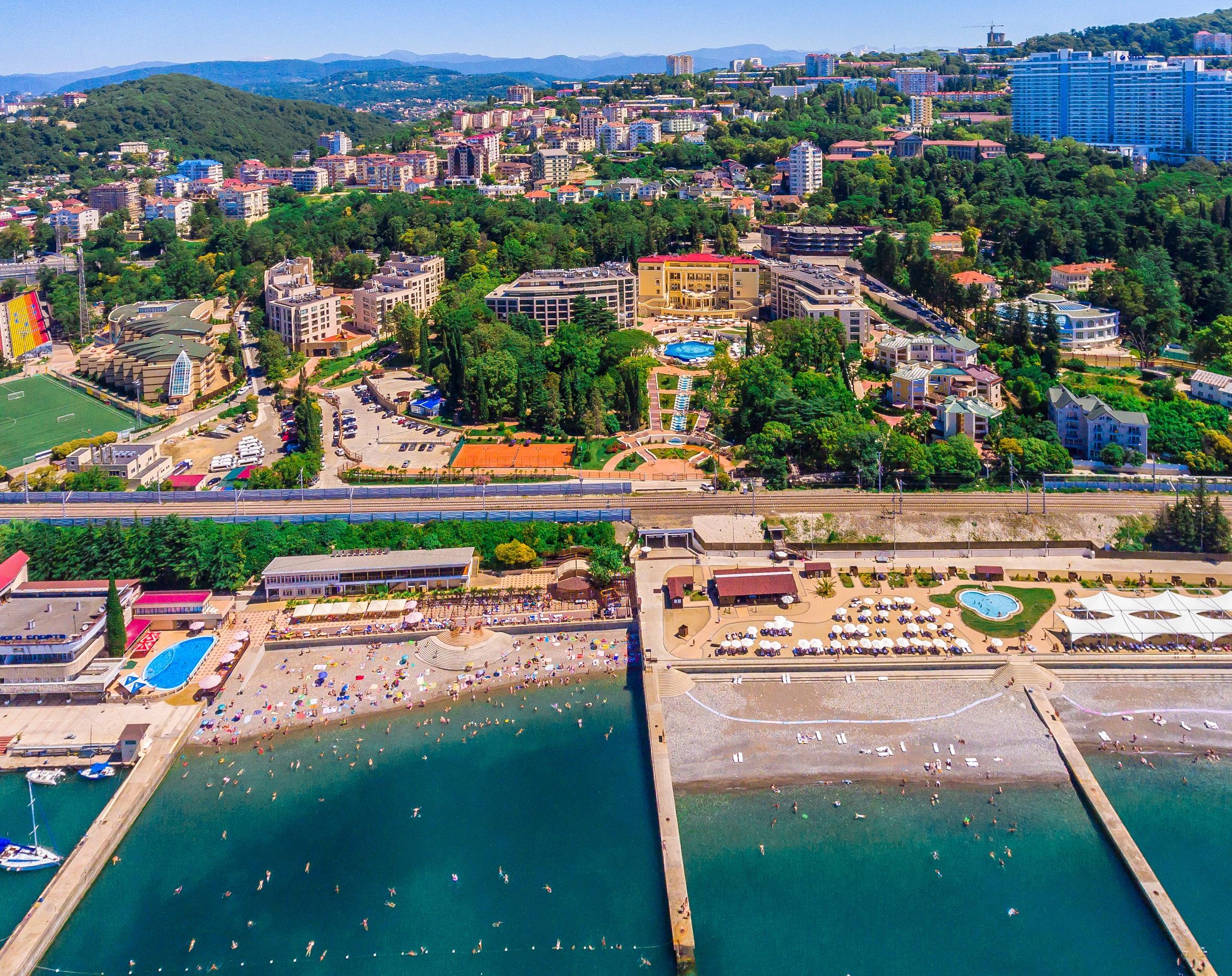 Гостиница Swissotel Resort Sochi Kamelia,Внешний вид (сверху)