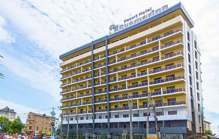Курорт-отель Санмаринн,Главный фасад корпус №1