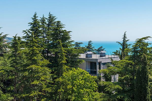 Отель Green park Yalta-Intourist,Внешний вид корпуса Green Park