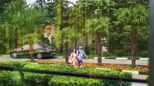 Отель Green park Yalta-Intourist,Территория Green Park
