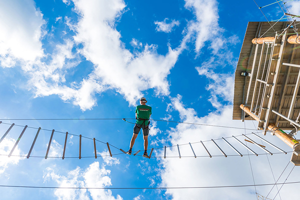 Веревочный парк отеля Ялта-Интурист Green Park