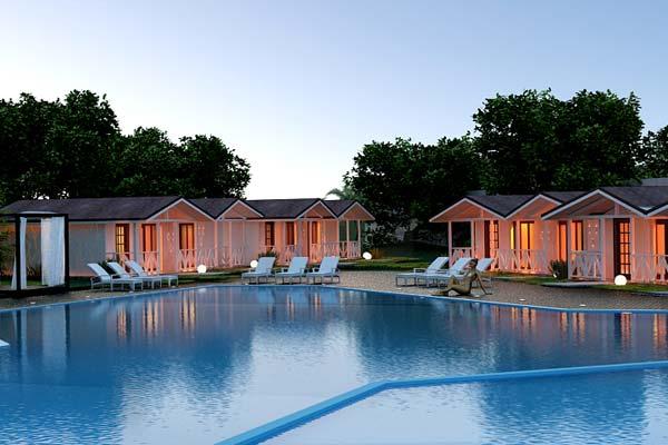 Отель Дача del Sol,Территория и бассейн