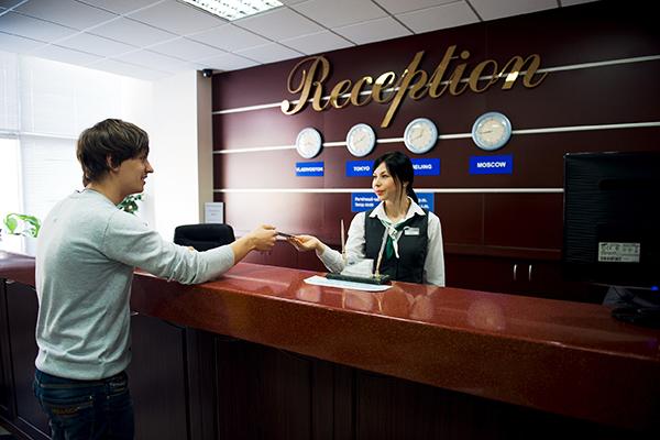 Гостиница Жемчужина,Ресепшн
