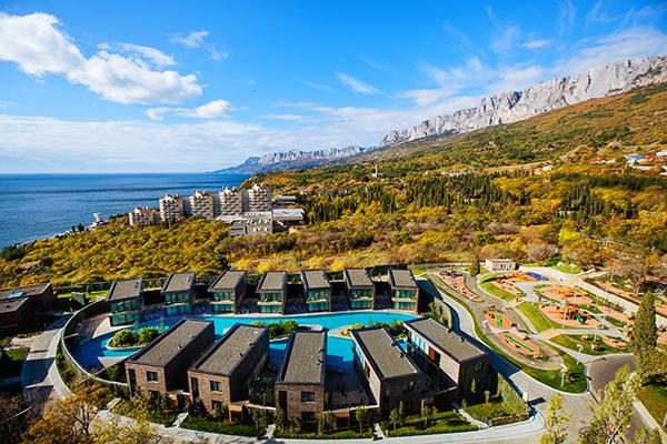 Санаторно-курортный комплекс Mriya resort,Вид на виллы MRIYA RESORT&SPA