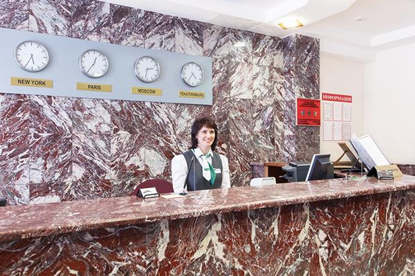 Гостиница Урал,Ресепшн