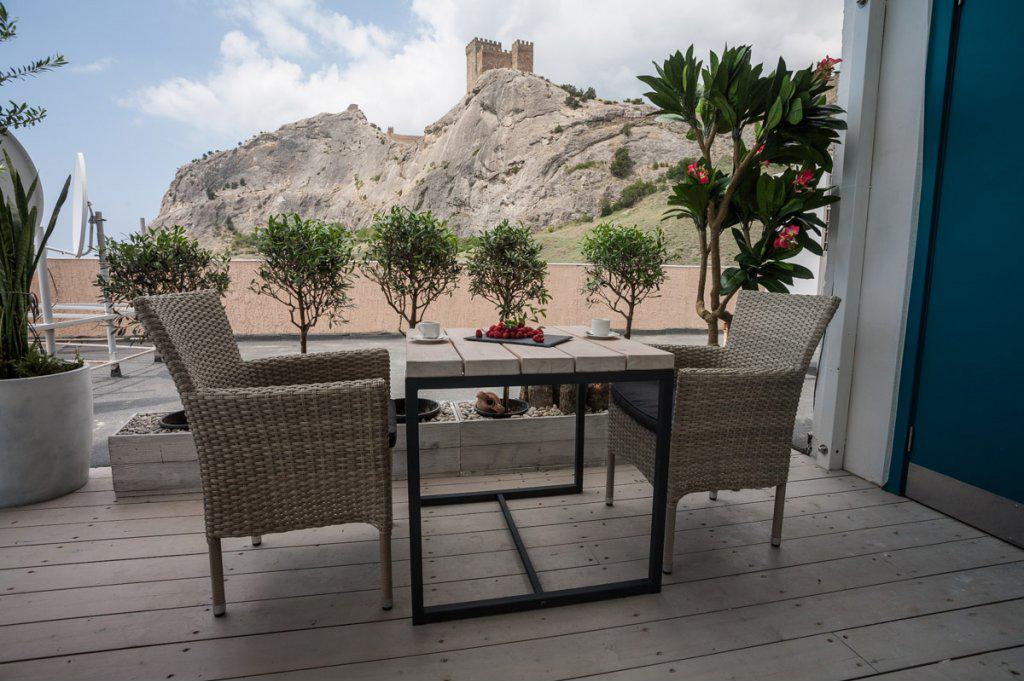 Гостиница Астарта,Вид на крепость