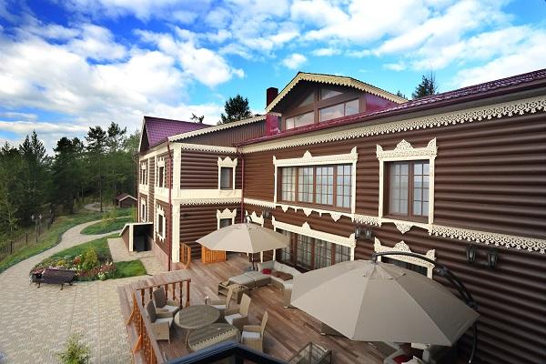 Гостиница Байкальская резиденция Лодж Отель,Общий вид терраса