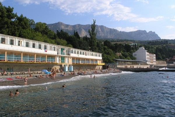 Санаторий Симеиз,Климатопавильон. Пляж