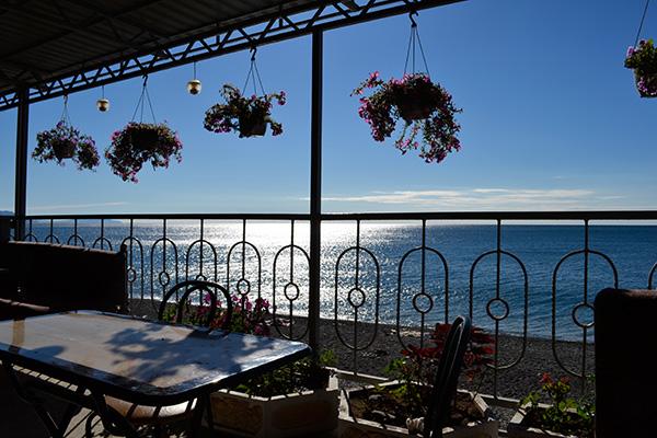 Отель Гамачок у моря,Вид с площадки кафе