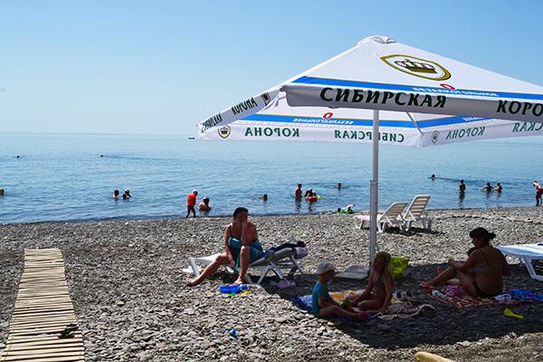 Отель Гамачок у моря,Пляж