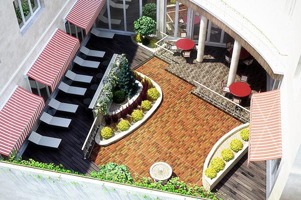 Гостевой дом Вилла Журавли,Внутренний двор