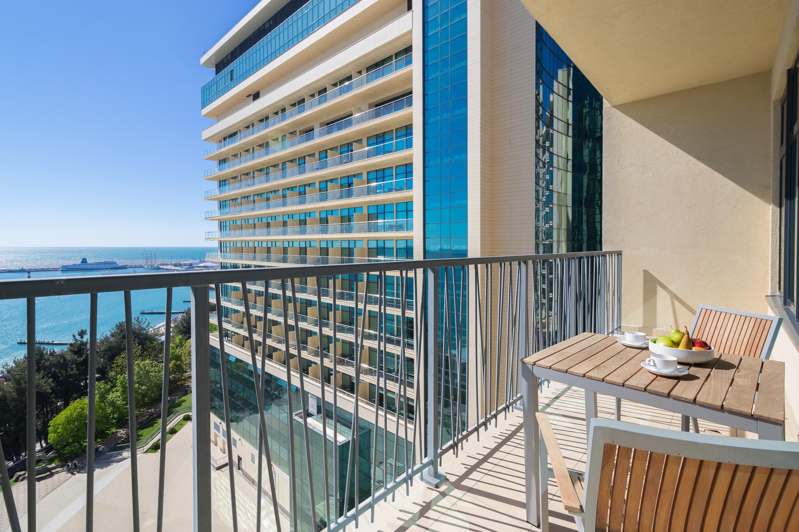 Апарт-отель Бревис (Brevis),Апартаменты с одной спальней, вид на море