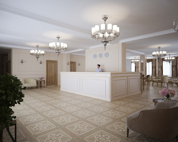 Отель Демократия (Democratia),Стойка регистрации