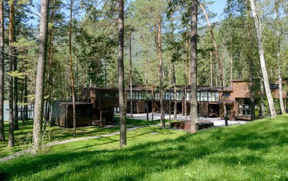 эко-отель Алтика,Территория
