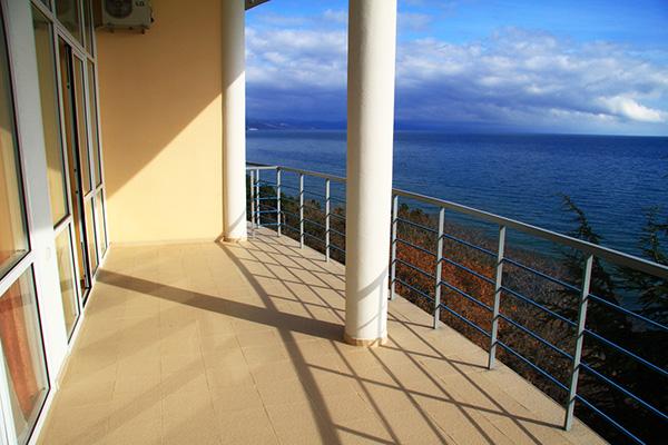 Гостиница Ласковый берег,Вид с балкона корпуса Аврора
