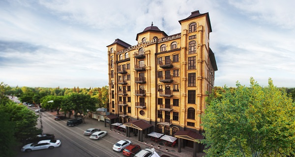 Отель Курортный,с воздуха фасад