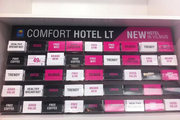 Отель Comfort Hotel LT,фойе
