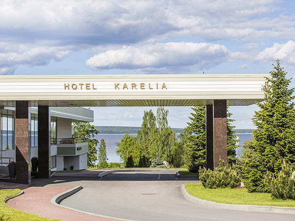 Гостиница Карелия СПА,Центральный вход