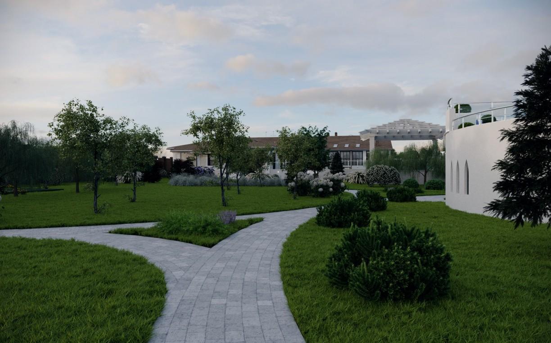 Отель РЫБЗАВОД,Улица. Сад. Общий вид