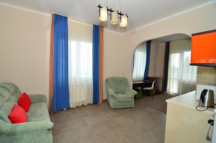 Отель Атлантик ,Студио 4-местный 2-комнатный море