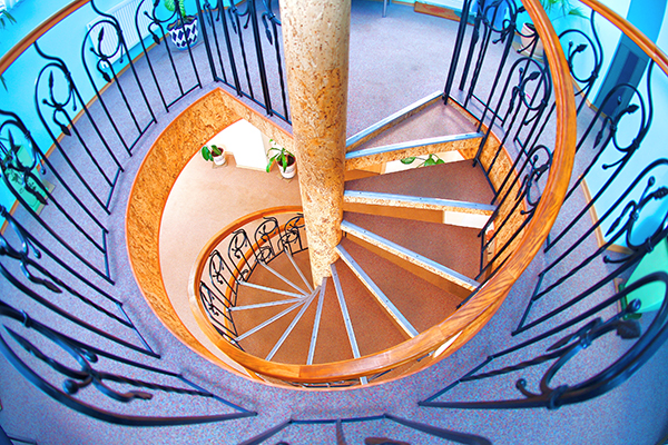 Отель Дельта,Вид лестницы