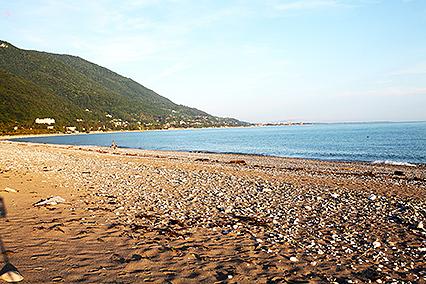 Дом отдыха Колхида,Пляж