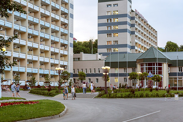 Санаторий Белокуриха,Фасад главного входа