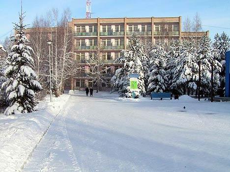 Пансионат с лечением Карагайский бор ,Вид зимой