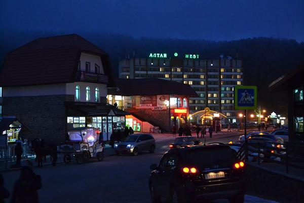 Санаторий Алтай (ex. Алтай-West) ,Вид в ночное время