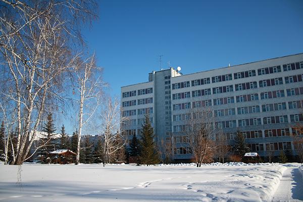 Санаторий Урал ,Внешний вид (зима)