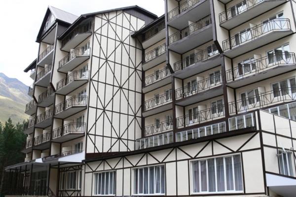 Гостиница Снежный Барс ,Фасад