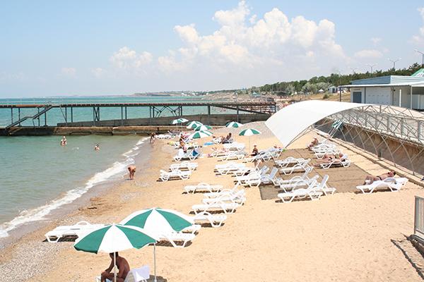 Туристско-оздоровительный комплекс Капля моря,Пляж