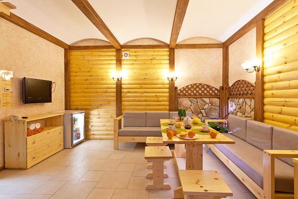 Гостиничный комплекс Альбатрос,Комната отдыха в сауне