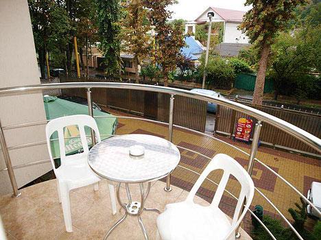 Гостиница Алая Роза,Вид с балкона