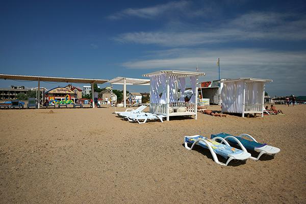 Пансионат Танжер,Пляж