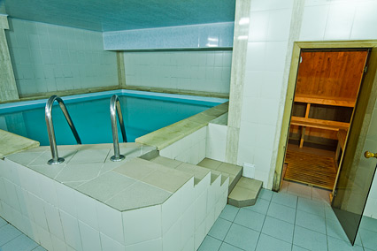 Отель Форум,Бассейн в сауне