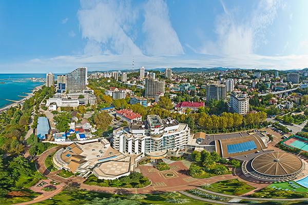 Санаторий Черноморье (РЖД),Общий вид