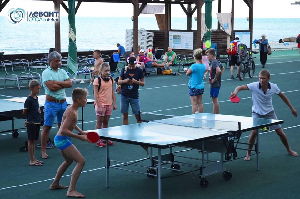 Состязания по настольному теннису