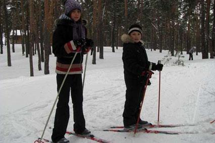 Пансионат Соколова пустынь,Катание на лыжах