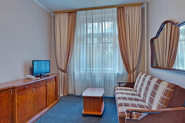Полулюкс семейный с двуспальной кроватью гостиная