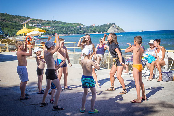 Детская Анимация летом на пляже