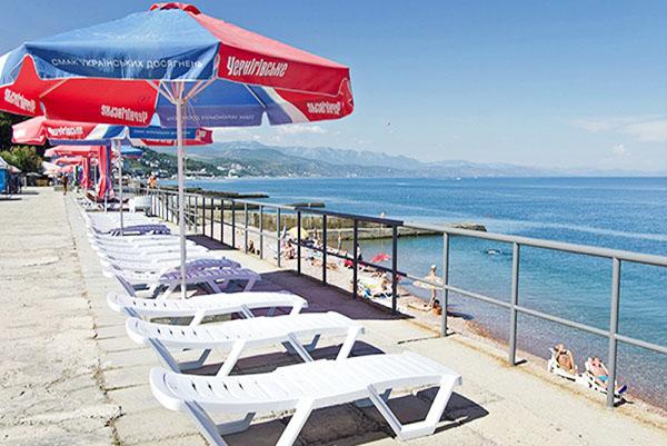 Курорт-отель Морской Уголок,Верхний пляж